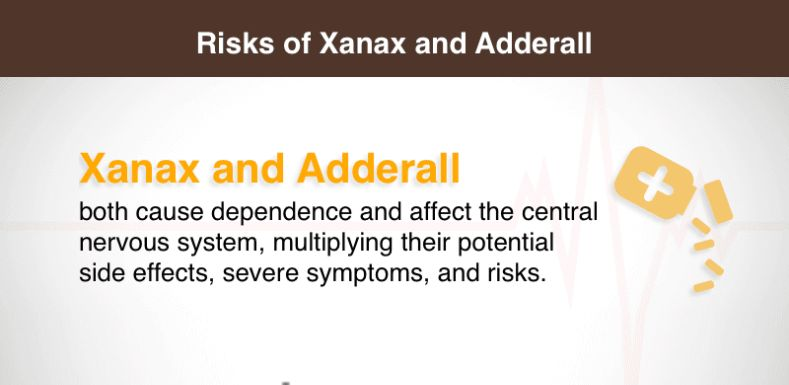 Risks of Xanax and Adderall